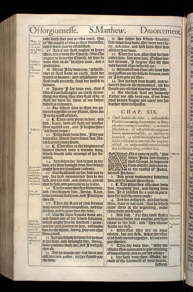 Matthew Chapter 18 Original 1611 Bible Scan