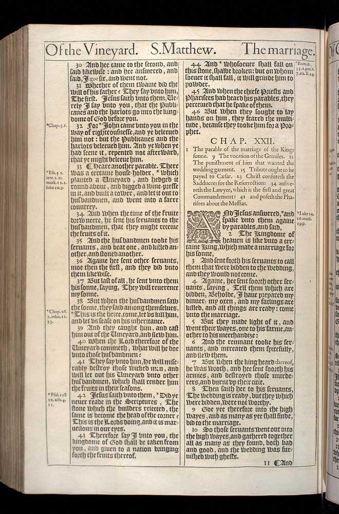 Matthew Chapter 21 Original 1611 Bible Scan