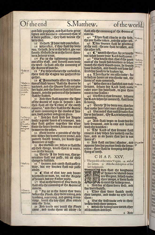 Matthew Chapter 24 Original 1611 Bible Scan
