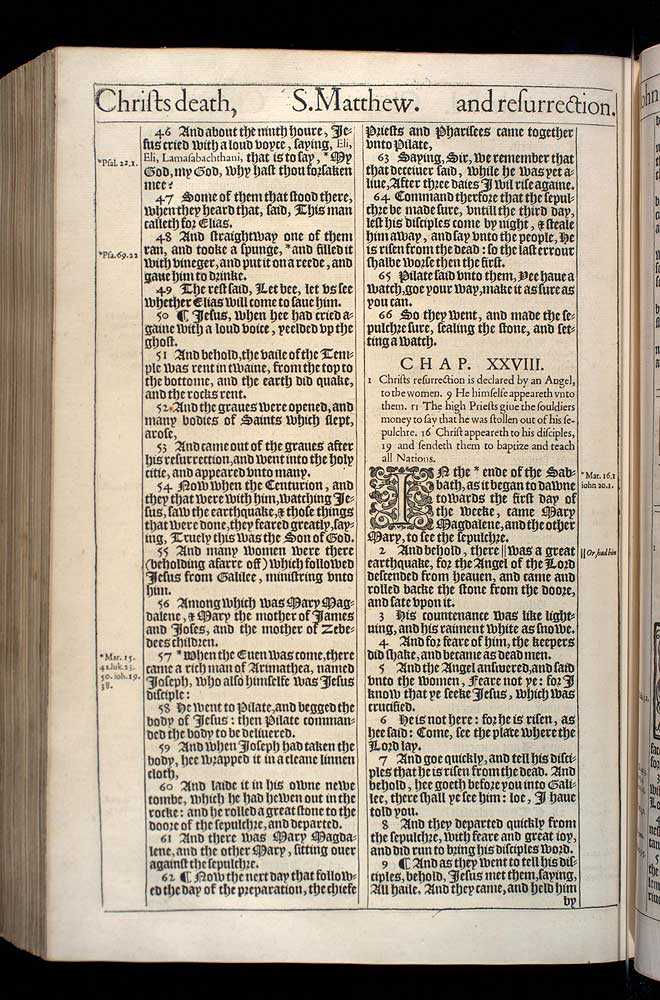 Matthew Chapter 27 Original 1611 Bible Scan