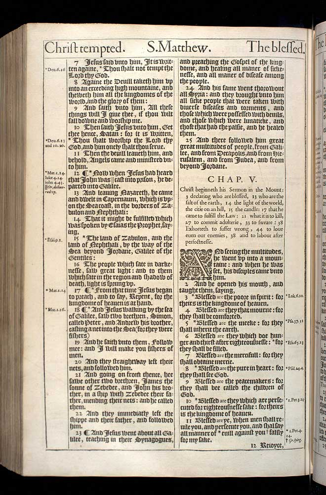 Matthew Chapter 4 Original 1611 Bible Scan