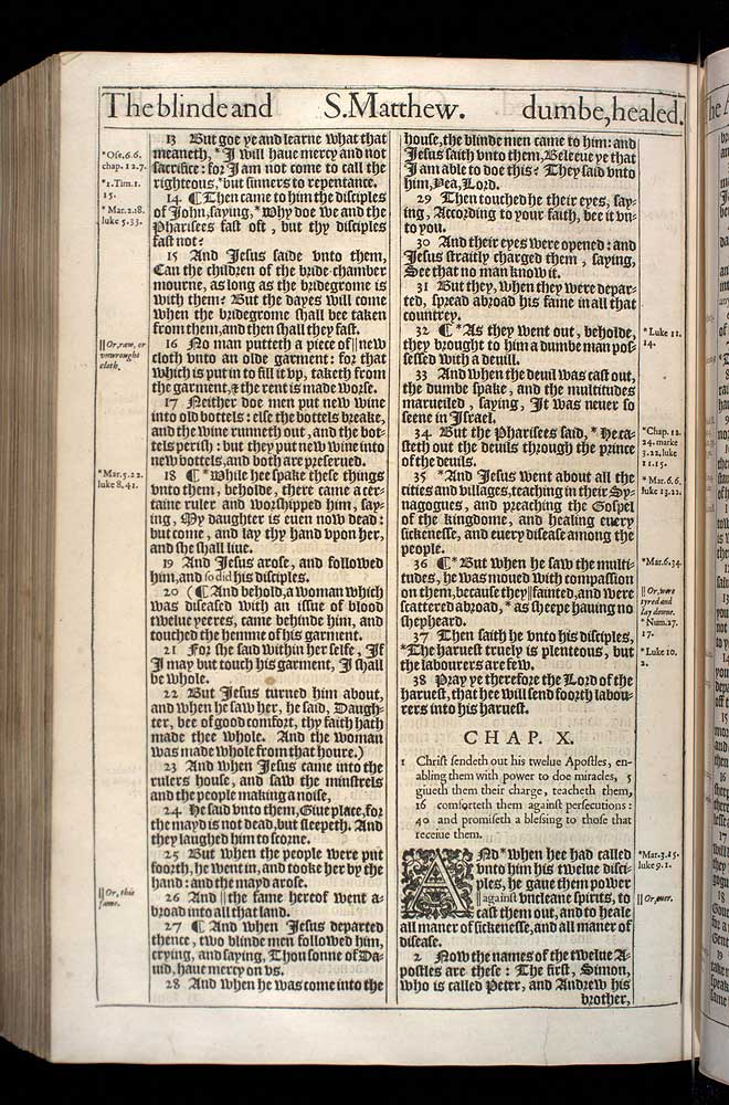 Matthew Chapter 9 Original 1611 Bible Scan