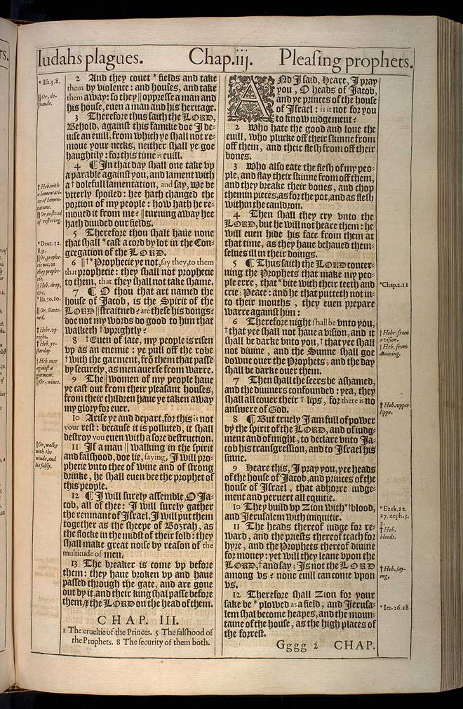 Micah Chapter 2 Original 1611 Bible Scan