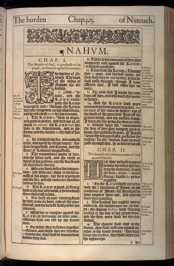 Nahum Chapter 1 Original 1611 Bible Scan