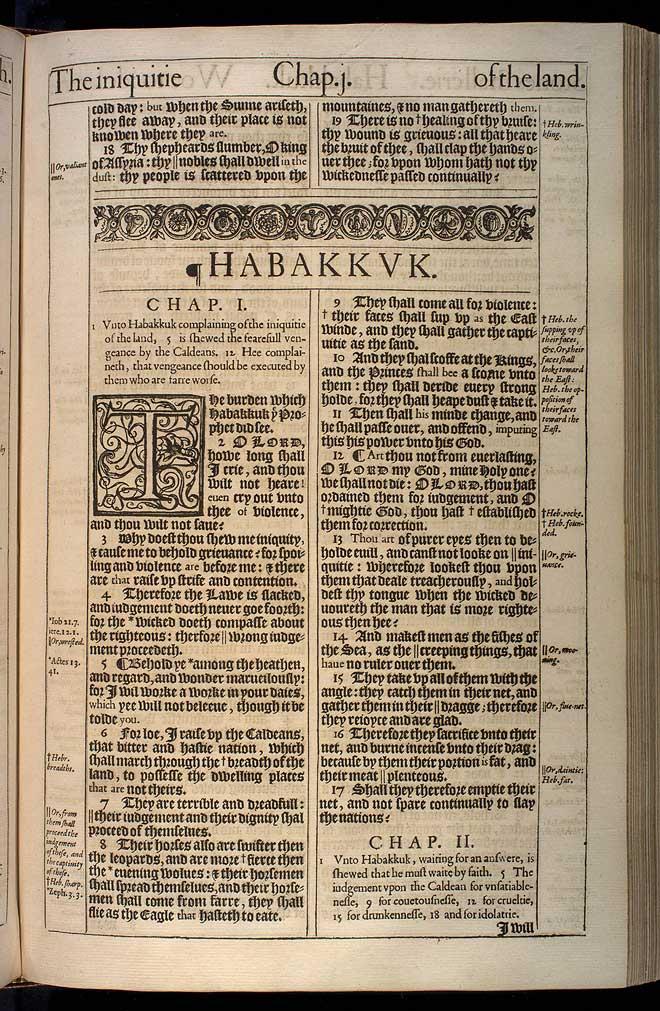 Habakkuk Chapter 1 Original 1611 Bible Scan