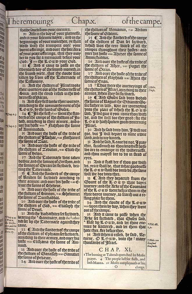 NUMBERS CHAPTER 11 (ORIGINAL 1611 KJV)