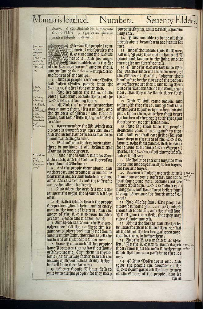 Numbers Chapter 11 Original 1611 Bible Scan