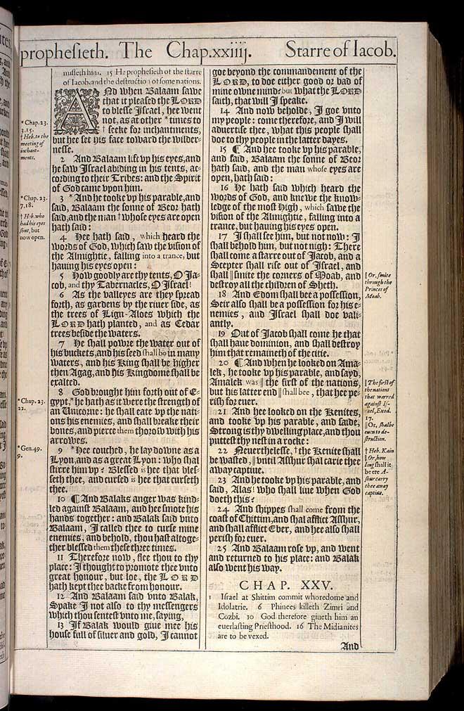 NUMBERS CHAPTER 24 (ORIGINAL 1611 KJV)