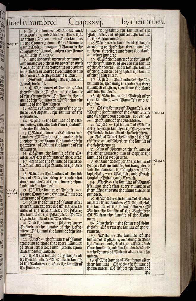 NUMBERS CHAPTER 26 (ORIGINAL 1611 KJV)