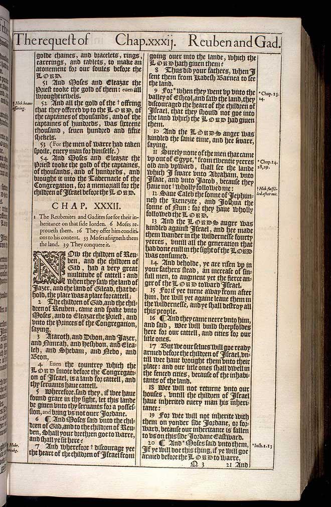NUMBERS CHAPTER 31 (ORIGINAL 1611 KJV)