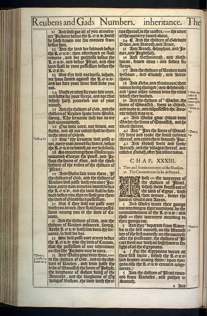 NUMBERS CHAPTER 33 (ORIGINAL 1611 KJV)