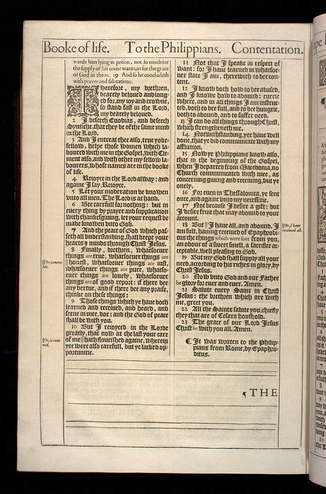 Philippians Chapter 4 Original 1611 Bible Scan