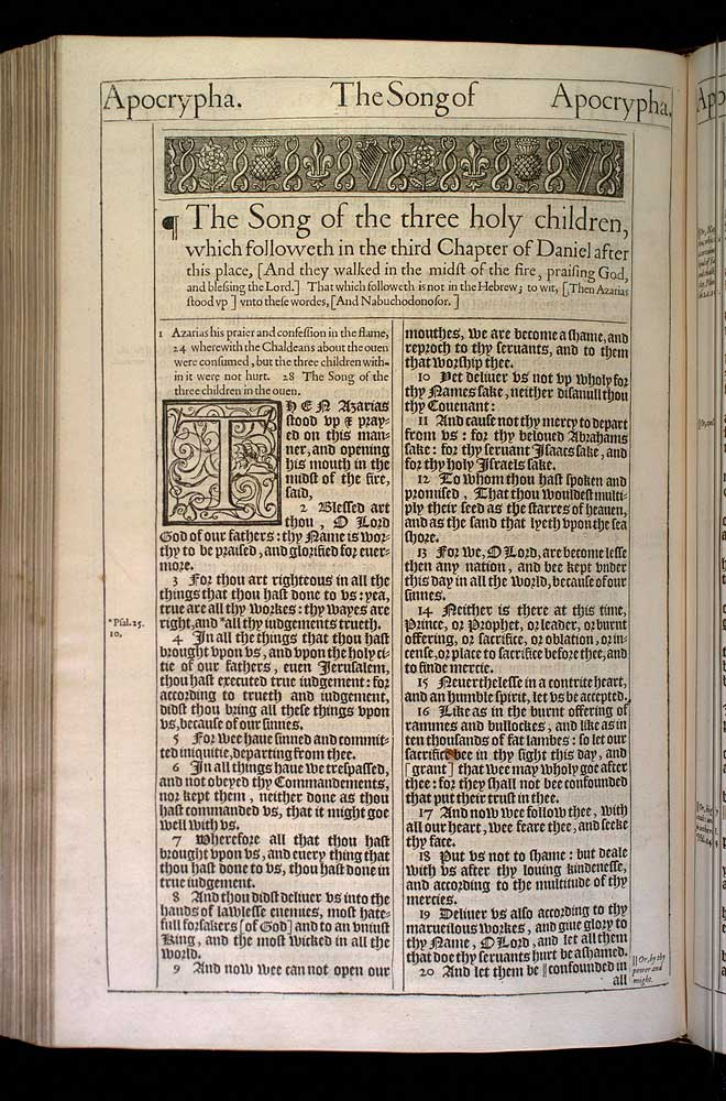 Prayer of Azariah Chapter 1 Original 1611 Bible Scan