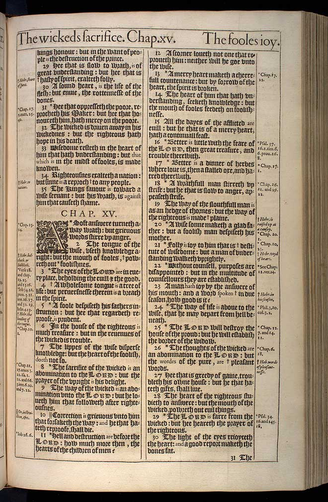 Proverbs Chapter 14 Original 1611 Bible Scan