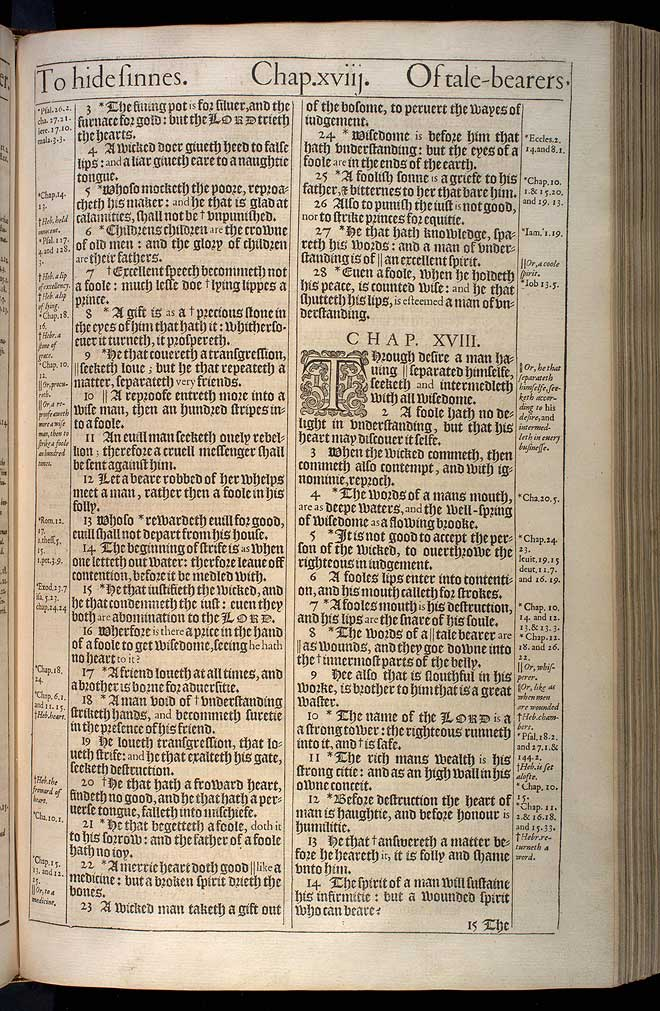 Proverbs Chapter 18 Original 1611 Bible Scan