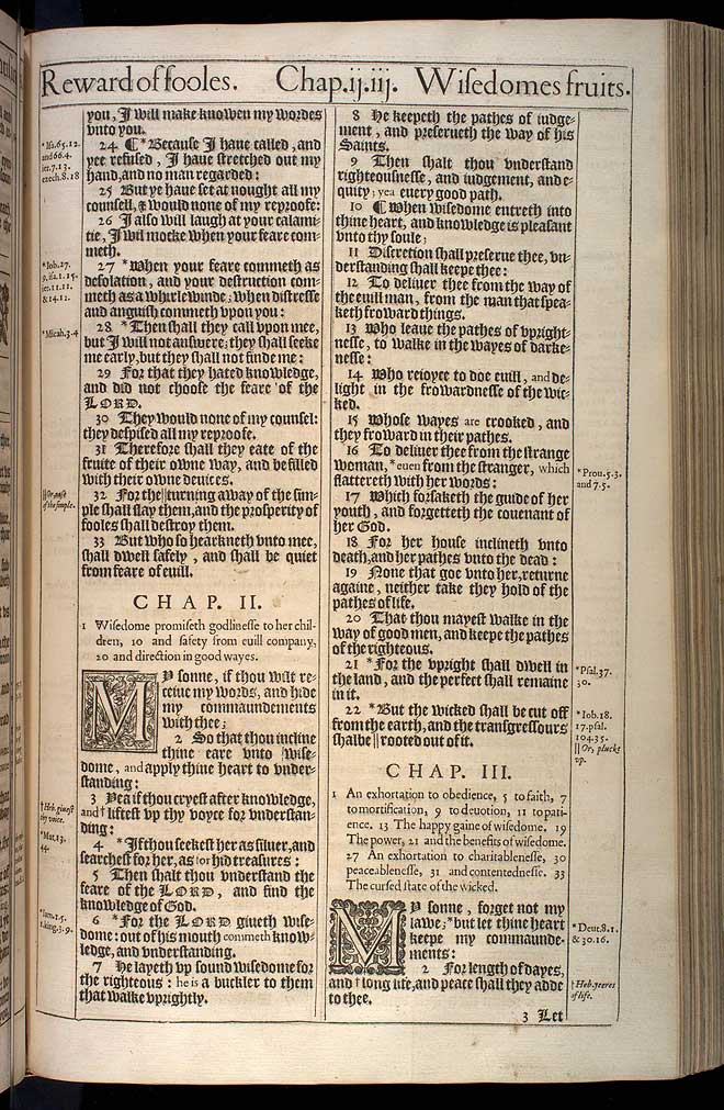 Proverbs Chapter 3 Original 1611 Bible Scan