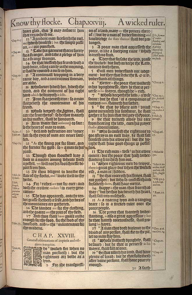 Proverbs Chapter 28 Original 1611 Bible Scan