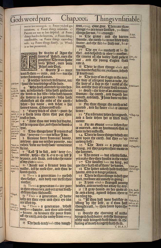 Proverbs Chapter 30 Original 1611 Bible Scan