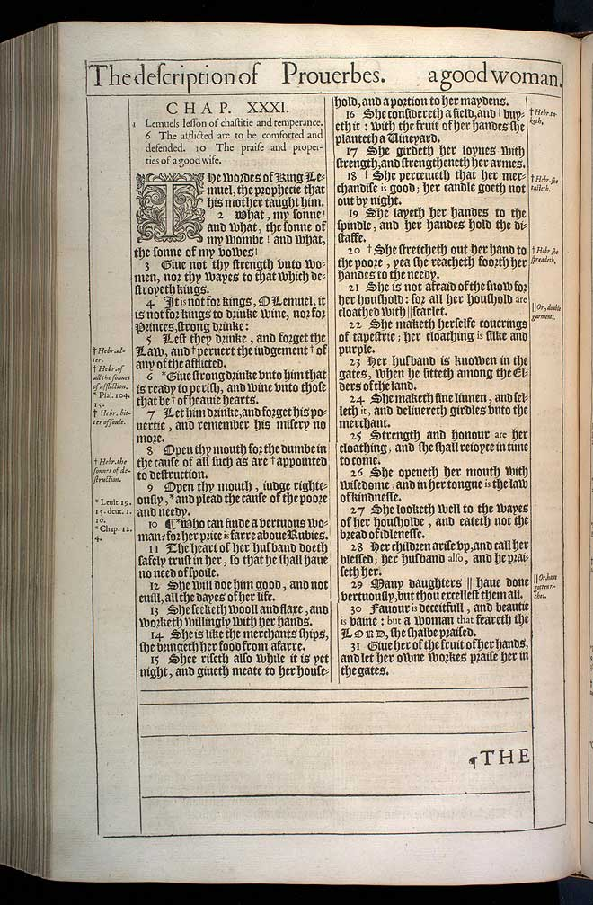 Proverbs Chapter 31 Original 1611 Bible Scan