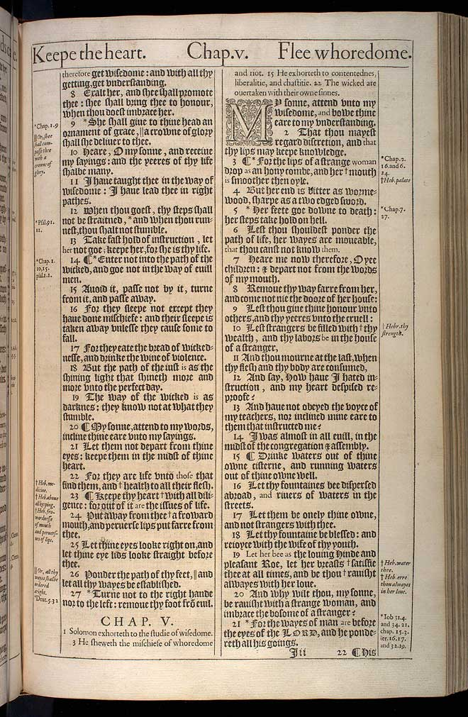 Proverbs Chapter 4 Original 1611 Bible Scan