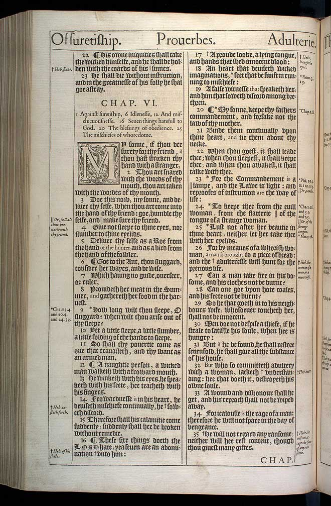 Proverbs Chapter 6 Original 1611 Bible Scan