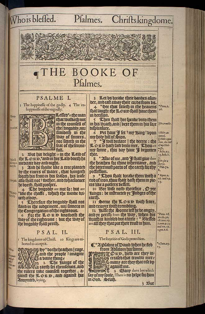 Psalms Chapter 1 Original 1611 Bible Scan