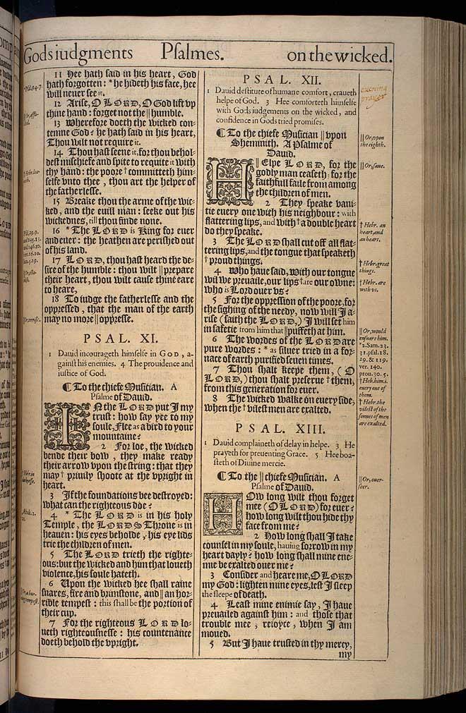 Psalms Chapter 13 Original 1611 Bible Scan