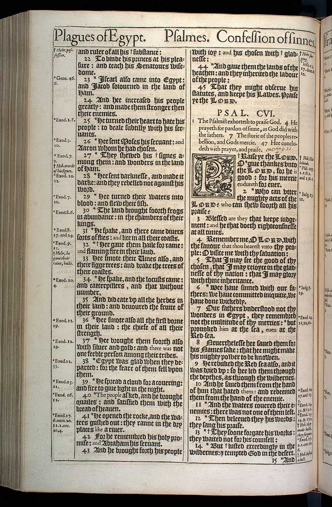 Psalms Chapter 106 Original 1611 Bible Scan