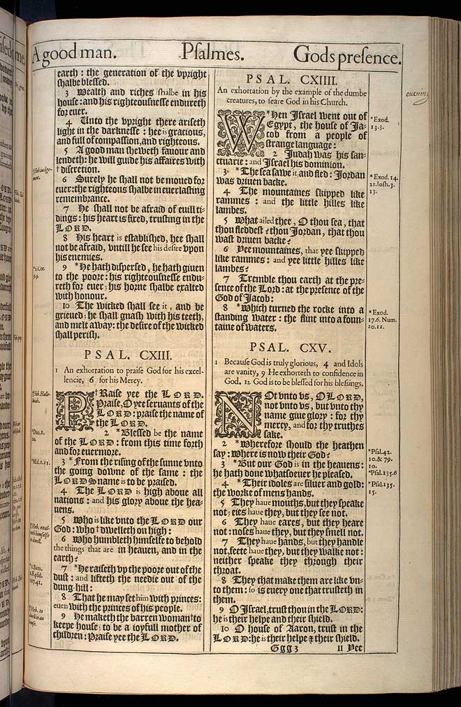 Psalms Chapter 112 Original 1611 Bible Scan