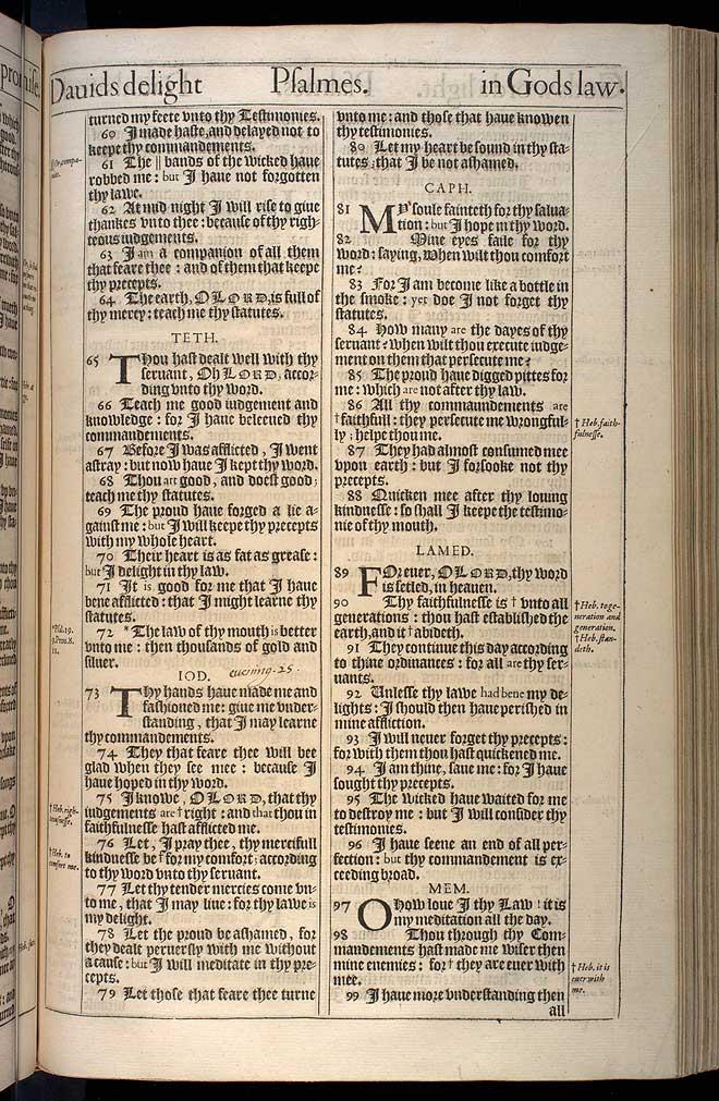 Psalms Chapter 119 Original 1611 Bible Scan