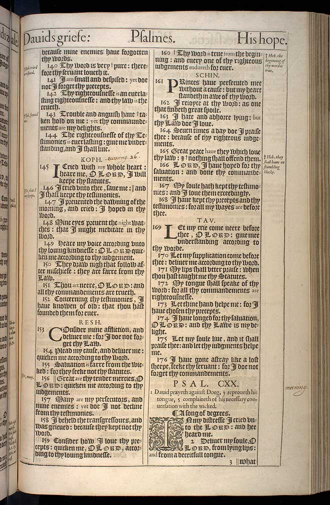 Psalms Chapter 119 Original 1611 Bible Scan