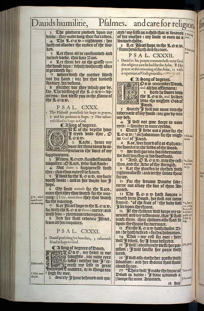 Psalms Chapter 130 Original 1611 Bible Scan