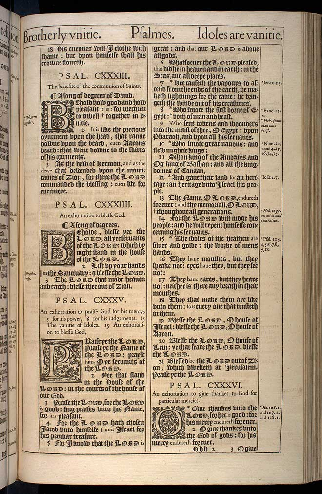 Psalms Chapter 135 Original 1611 Bible Scan