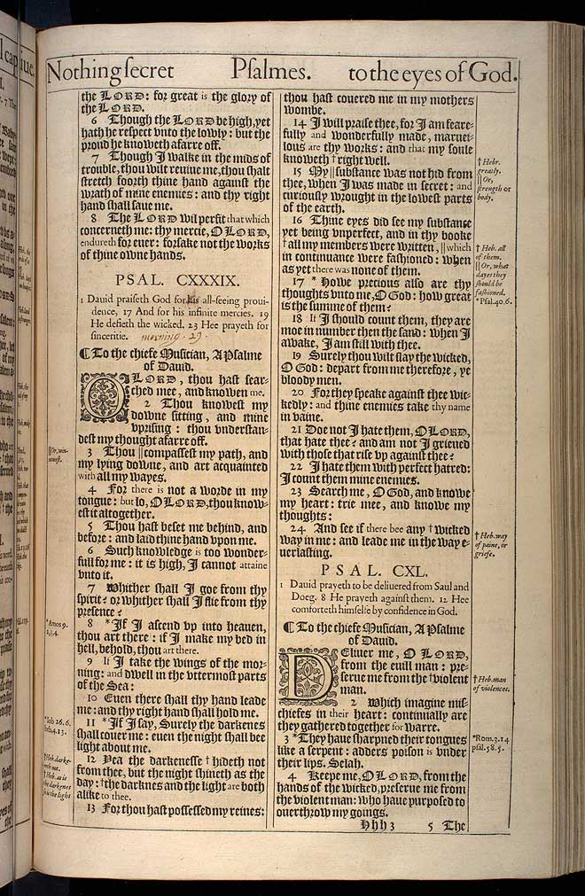 Psalms Chapter 139 Original 1611 Bible Scan