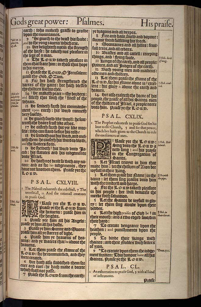Psalms Chapter 149 Original 1611 Bible Scan