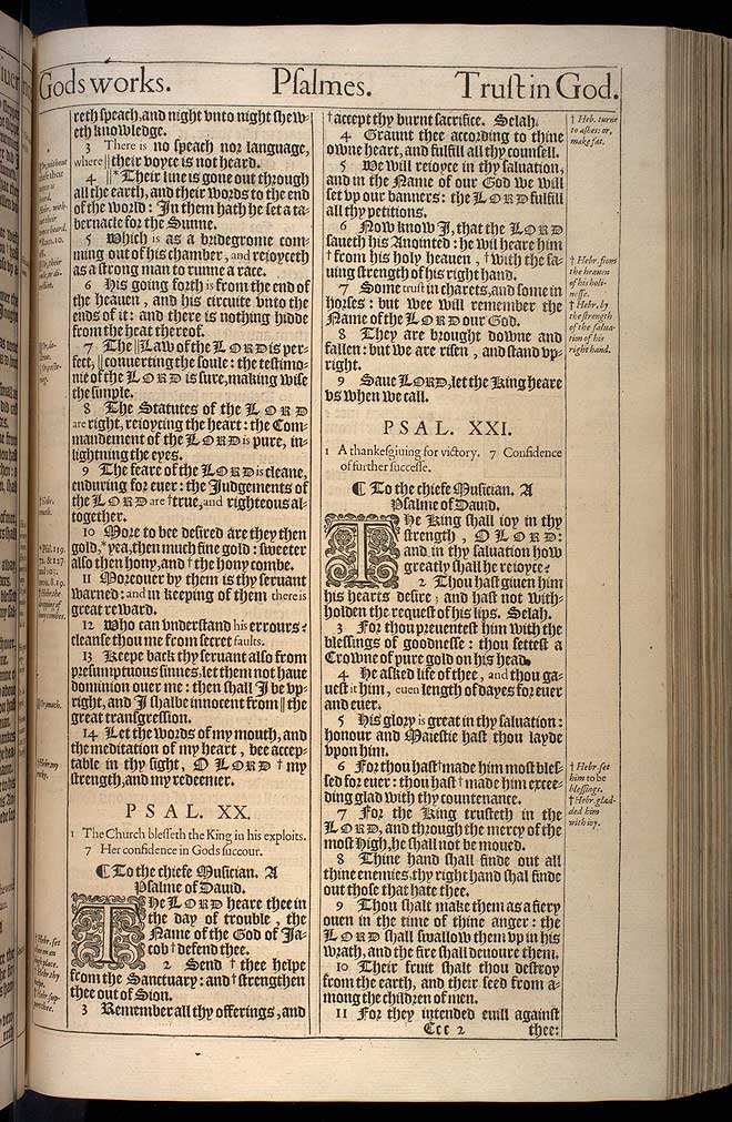 Psalms Chapter 20 Original 1611 Bible Scan