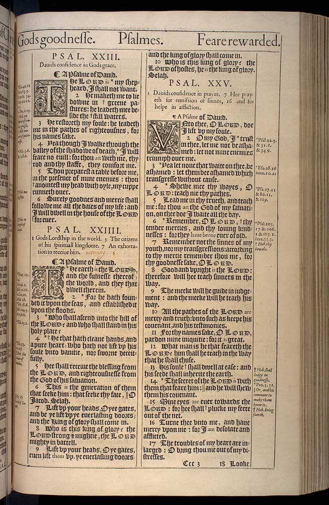 Psalms Chapter 23 Original 1611 Bible Scan