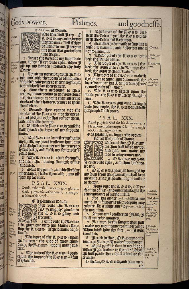 Psalms Chapter 28 Original 1611 Bible Scan