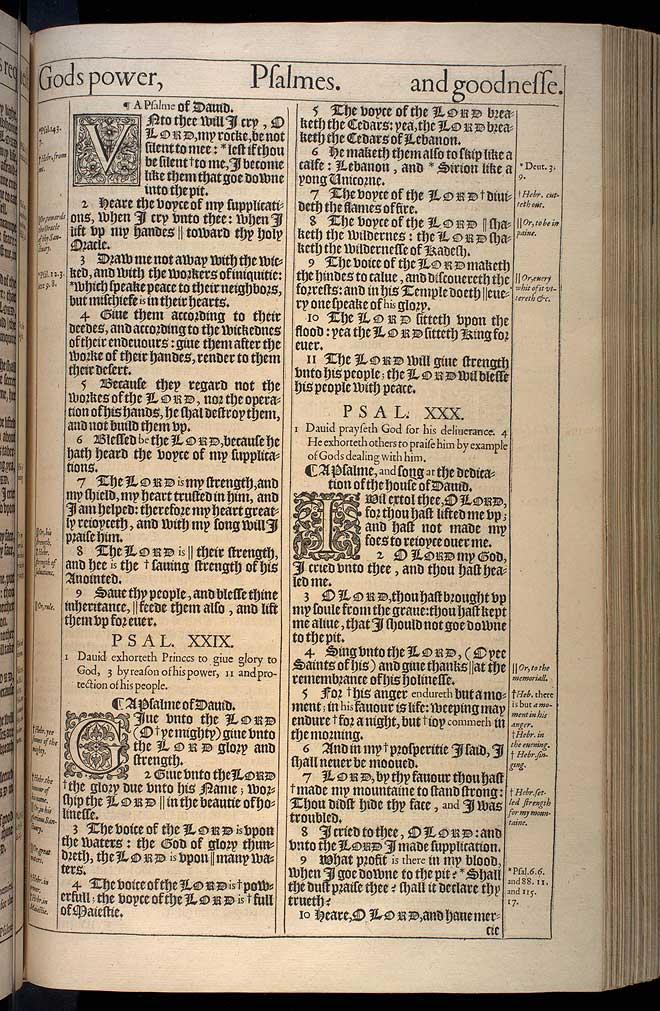 Psalms Chapter 30 Original 1611 Bible Scan