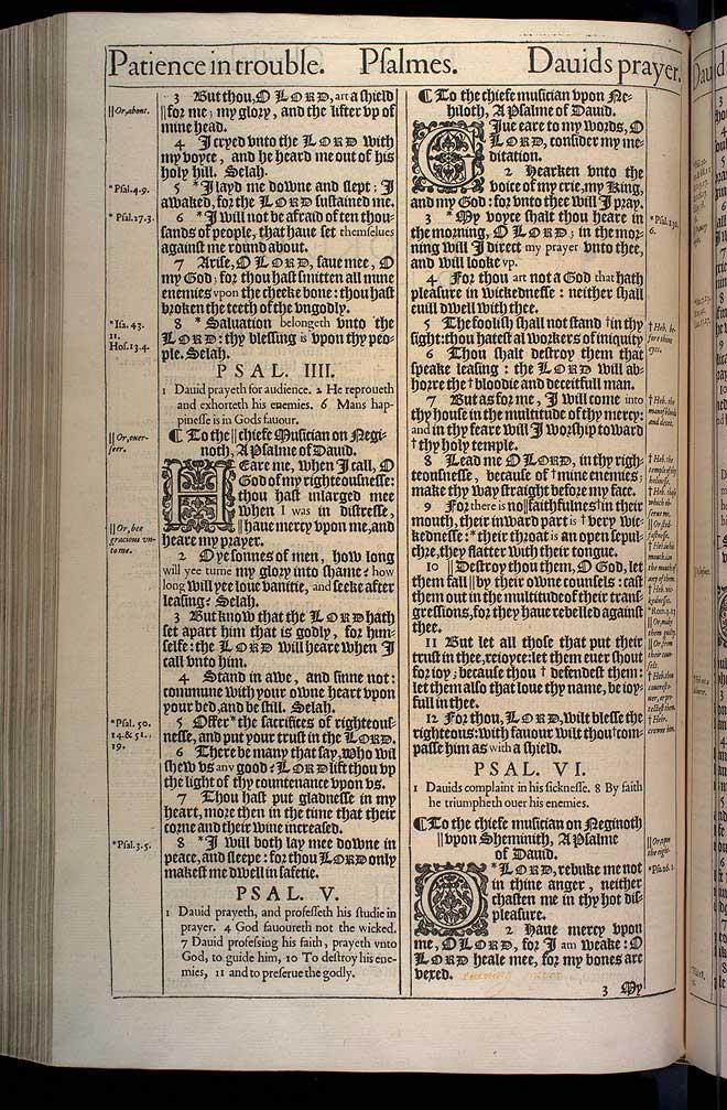 Psalms Chapter 4 Original 1611 Bible Scan