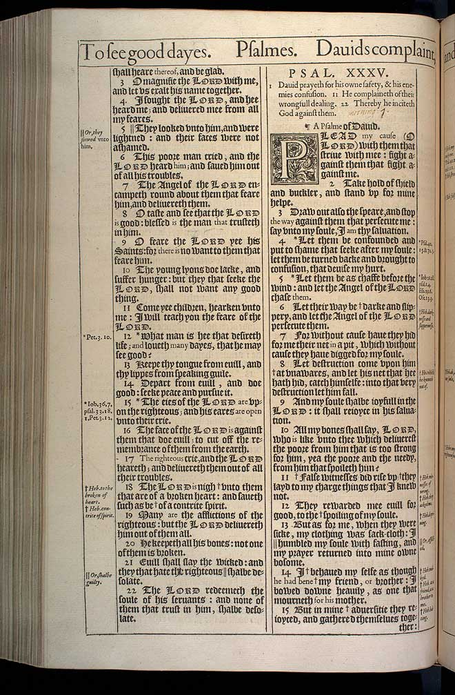 Psalms Chapter 34 Original 1611 Bible Scan