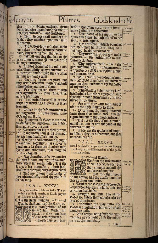 Psalms Chapter 37 Original 1611 Bible Scan