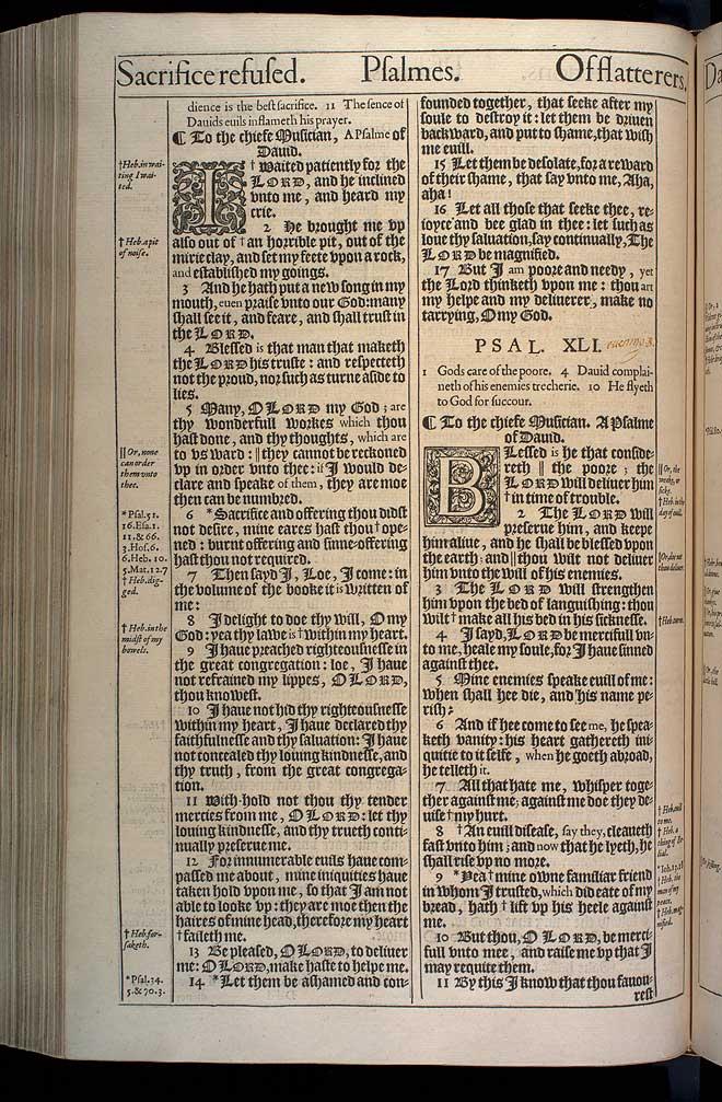 Psalms Chapter 40 Original 1611 Bible Scan