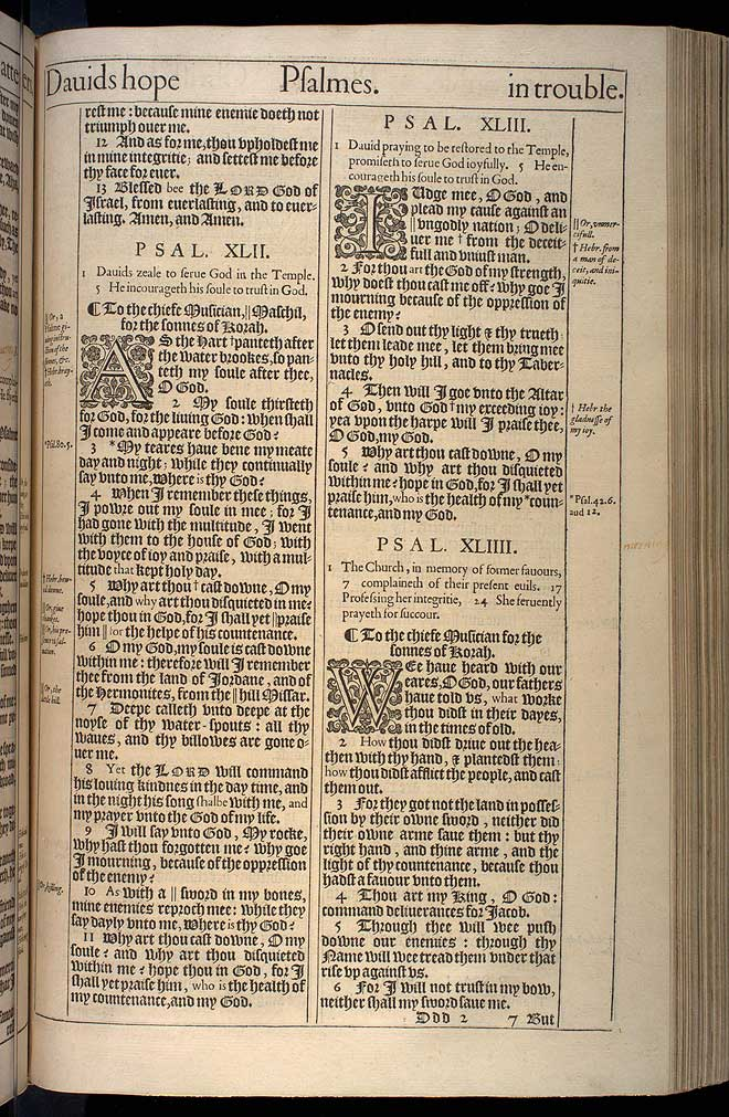 Psalms Chapter 41 Original 1611 Bible Scan