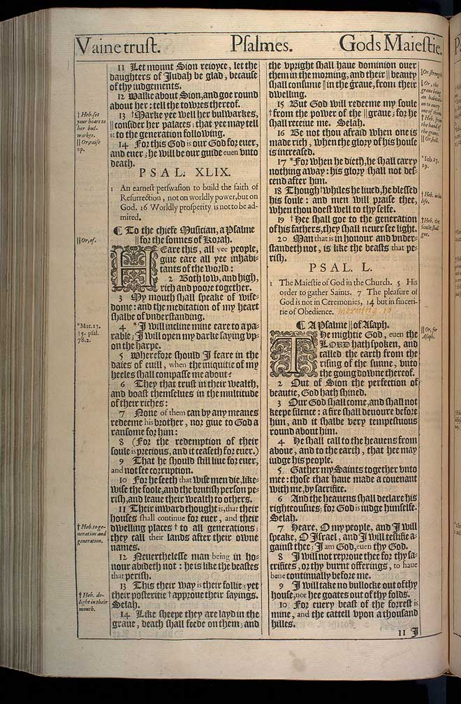 Psalms Chapter 50 Original 1611 Bible Scan