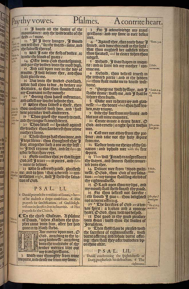 Psalms Chapter 51 Original 1611 Bible Scan