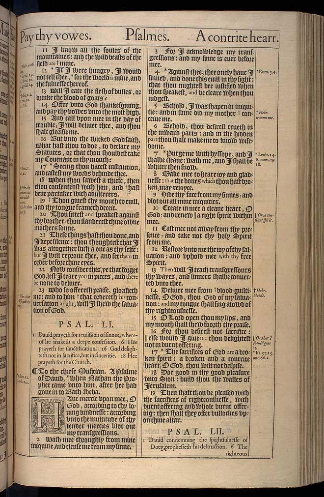 Psalms Chapter 50 Original 1611 Bible Scan