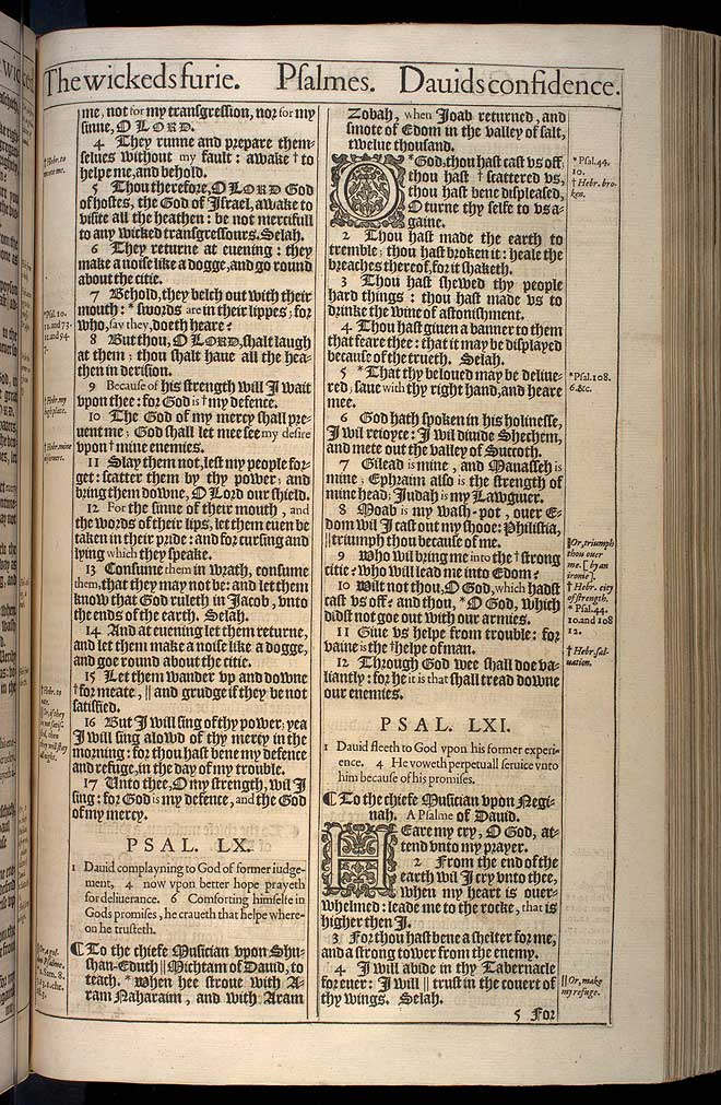 Psalms Chapter 59 Original 1611 Bible Scan