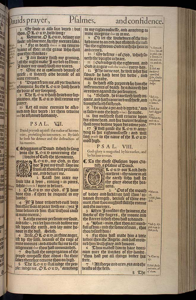 Psalms Chapter 8 Original 1611 Bible Scan