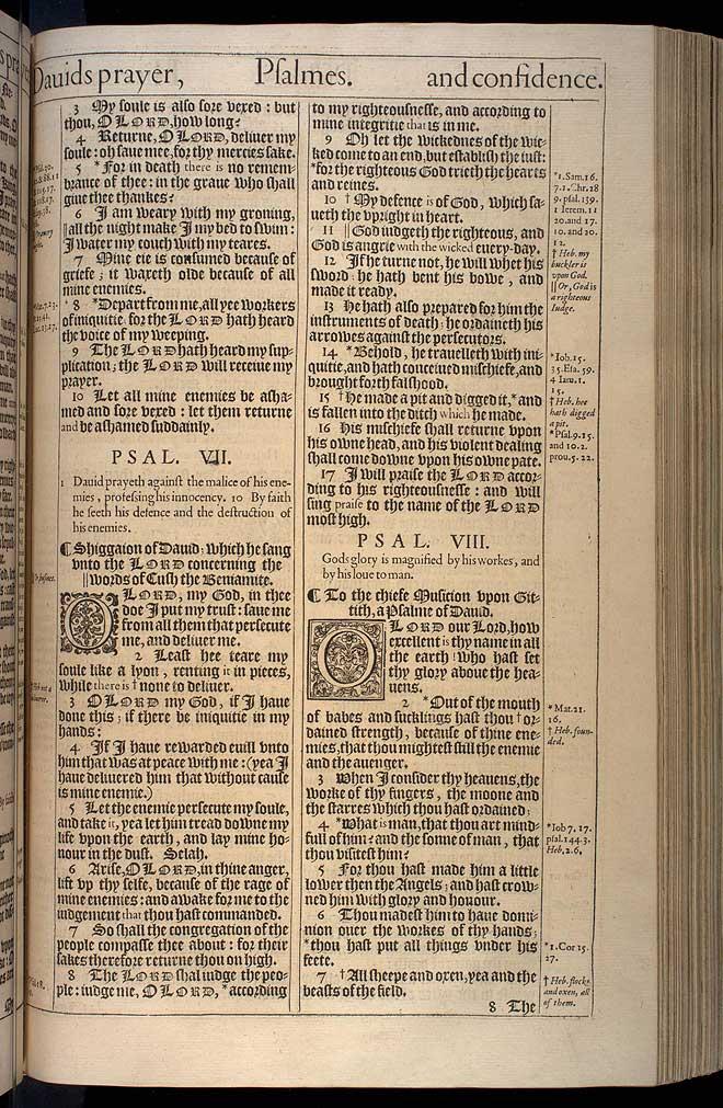 Psalms Chapter 6 Original 1611 Bible Scan